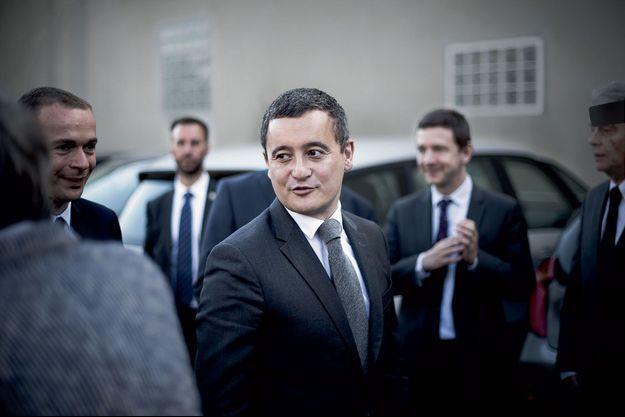 Le ministre de l'Action et des Comptes publics, Gérald Darmanin, lundi à Argenteuil, dans le Val-d'Oise.