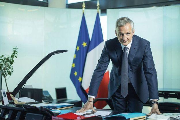 Bruno Le Maire dans son bureau, au ministère de l'Economie et des Finances, vendredi 11 mai.