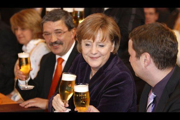 Angela Merkel à Demmin le 9 mars.