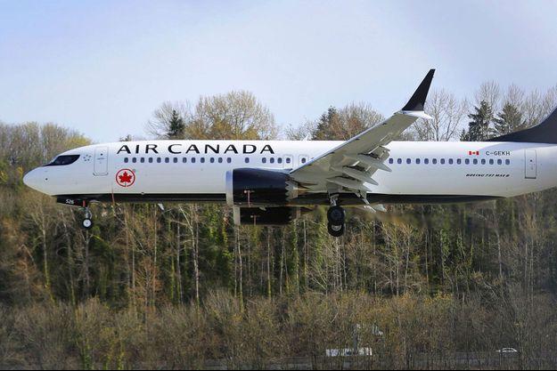 Un Boeing 737 MAX d'Air Canada.