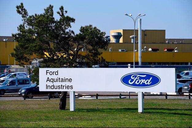 Devant l'usine Ford de Blanquefort, en février dernier.