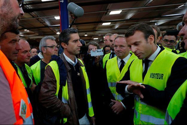 Après son élection, Emmanuel Macron avait rencontré en octobre 2017 les salariés de l'usine Whirlpool d'Amiens, avec François Ruffin.