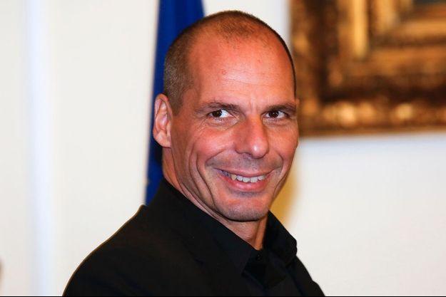 Yanis Varoufakis, lors de sa visite officielle à Rome.