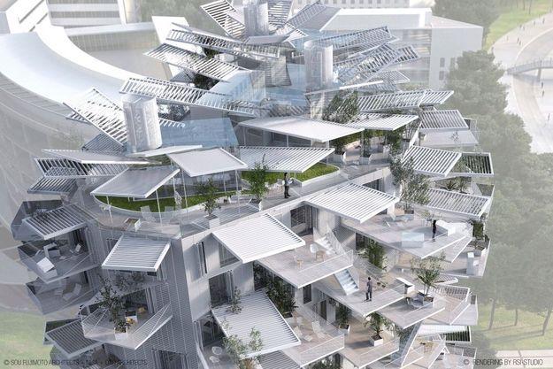 120 appartements de standing (du T2 au T5). Surface : 10 200 m2 , dont 3 400 de balcons. Terrasses de 15 à 35 m2 . Hauteur : 56 mètres. 17 étages, dont 15 consacrés au logement. Prix de vente : de 4 500 à 5 500 € le mètre carré. Livraison : début 2018.