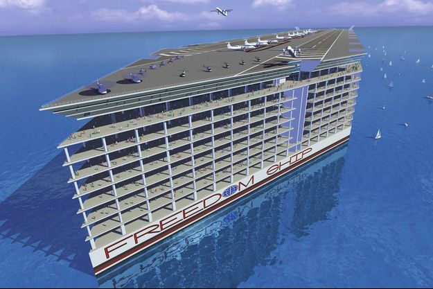 « Freedom Ship » disposera de 17 000 unités d'habitation pouvant héberger près de 60 000 personnes