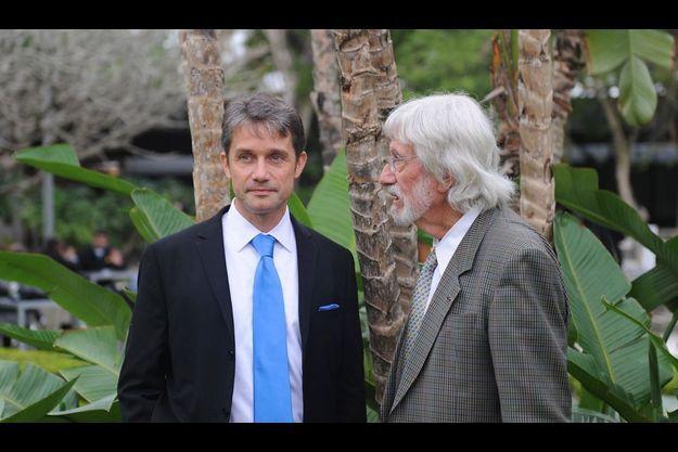 21 juin. Jean-Michel Cousteau et Fabien Cousteau au Rio Centro où s'est tenue la conférence internationale.