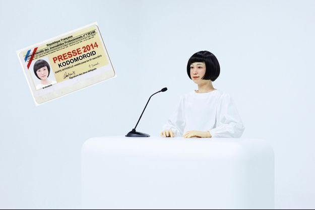 Contraction de « androïde » et de « kodomo », qui signifie enfant en japonais, le robot Kodomoroid égrène en continu les actualités au Musée national des sciences émergentes et de l'innovation à Tokyo.