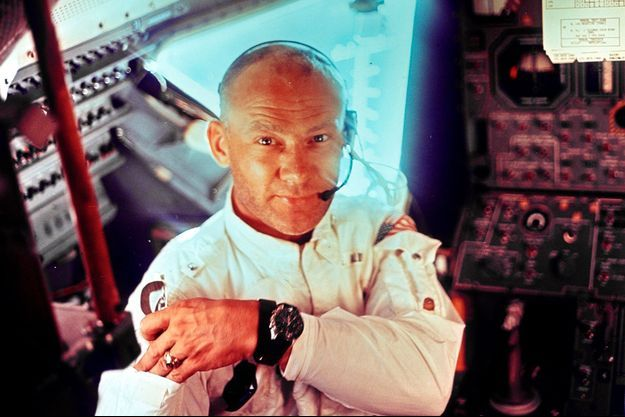 Buzz Aldrin pendant la mission Apollo 11