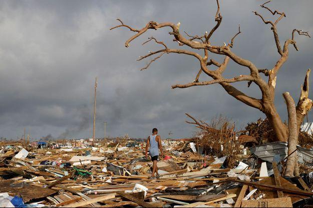 En septembre 2019, aux Bahamas après l'ouragan Dorian.
