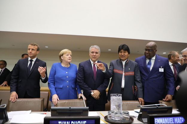 Lors d'une réunion à l'ONU, lundi.