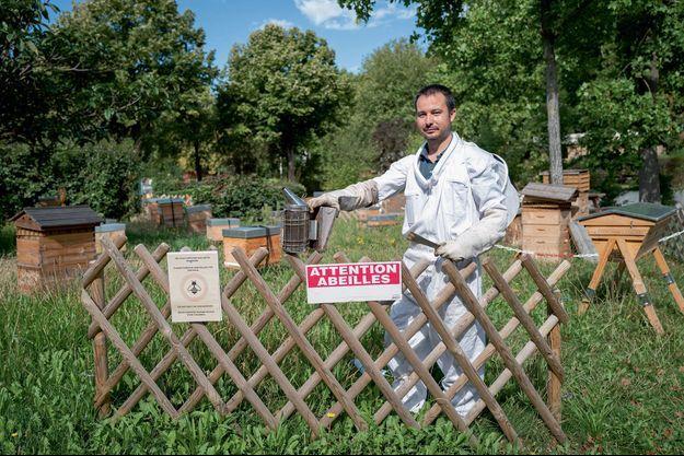 Lionel Potron, 41 ans, l'un des patrons d'Apis Civi, qui produit un miel made in Paris.
