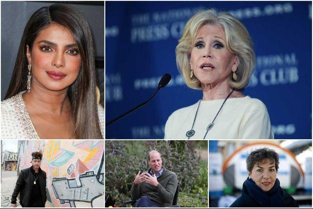 Priyanka Chopra, Jane Fonda, Prince Royce, prince William, Christiana Figueres.