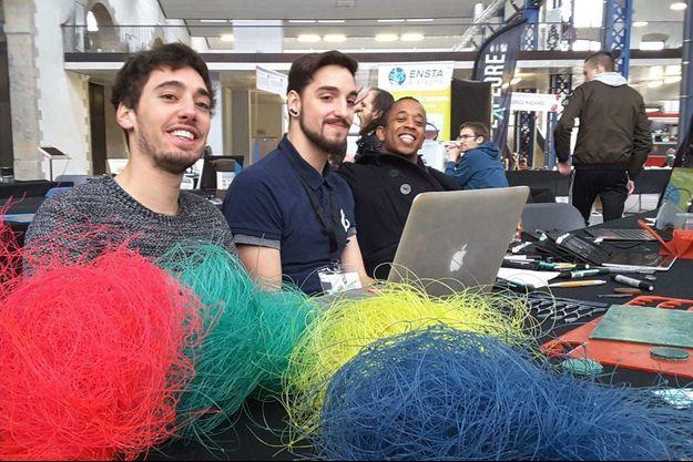 Les trois designers de la société Fil&Fab.