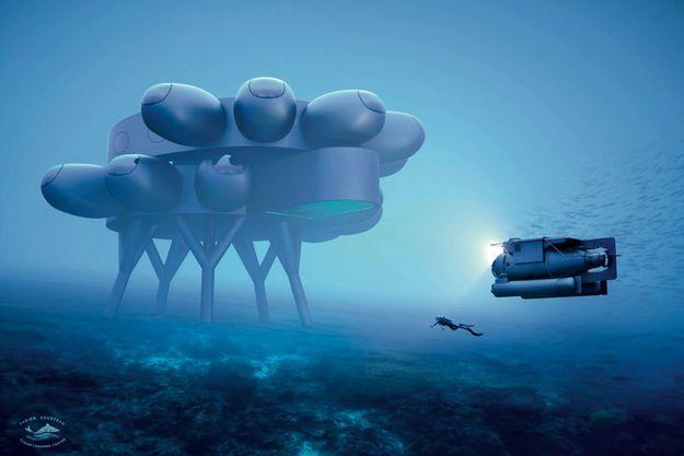 Un base de 370 mètres carrés à 18 mètres de profonde: cette base pourrait être construite en 3 ans.