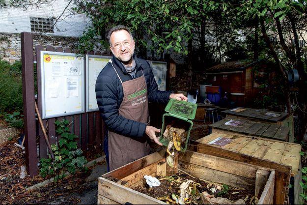 Jean-Jacques Fasquel, 54 ans, maître composteur à Paris.