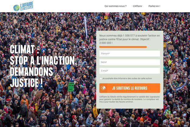 L'Affaire du siècle, la pétition en ligne.