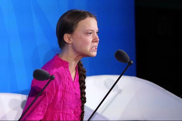 Greta Thunberg à l'ONU, le 23 septembre 2019.