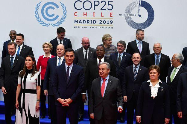 Les représentants des quelque 200 pays signataires de l'accord de Paris, à Madrid pour la COP25.