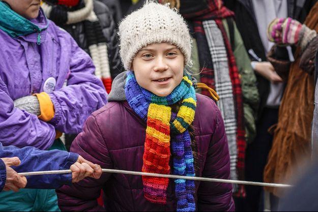 Greta Thunberg ici à Bruxelles le 6 mars.