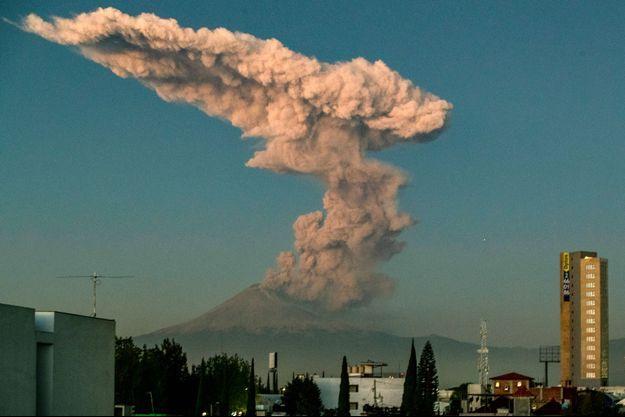 Volcan Popocatepetl le 9 janvier 2020.