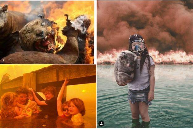 Ces images ne représentent pas les incendies en Australie.