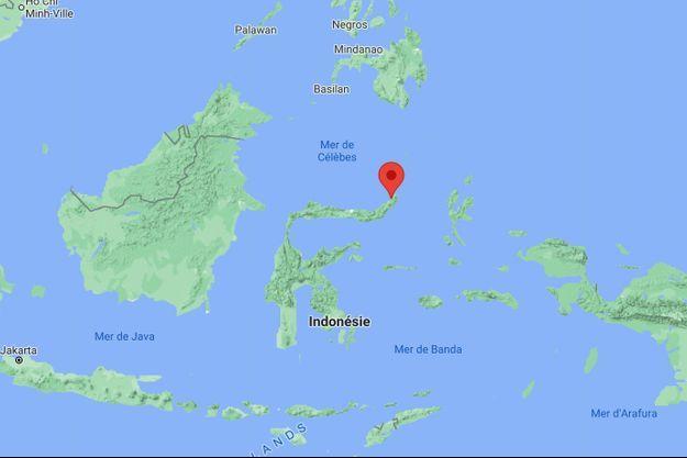 Le puissant tremblement de terre a frappé à 258 kilomètres au nord-est de la ville de Manado, située dans le nord de l'île.