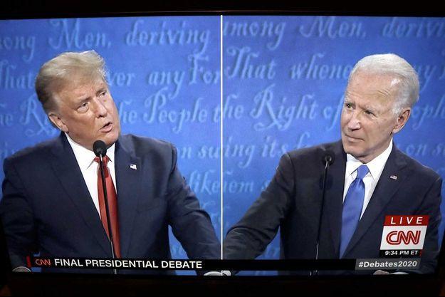 Donald Trump et Joe Biden lors de la campagne présidentielle américaine.
