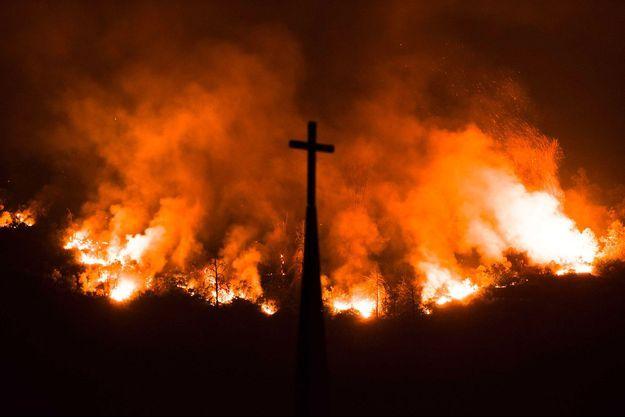 Pendant les incendies en Californie.