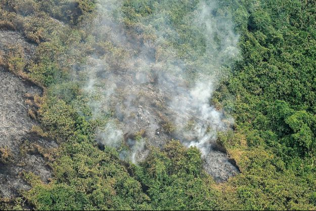 Feu de forêts à Cali, en Colombie, le 13 septembre 2018.