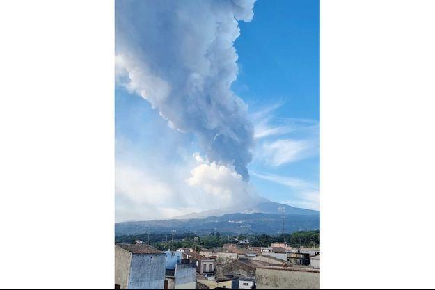 L'Etna en éruption, le 21 septembre 2021.