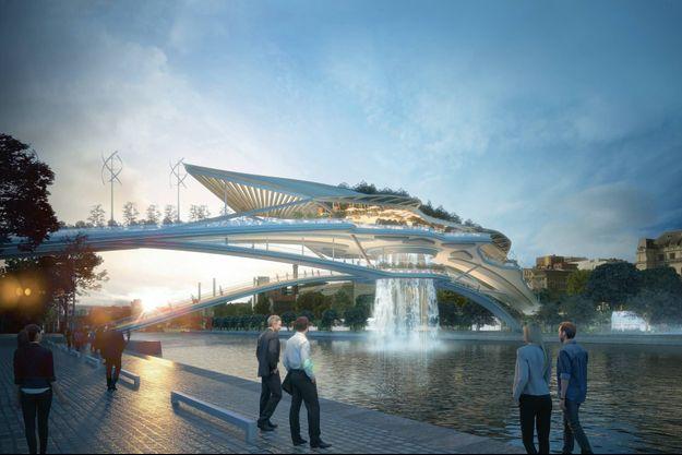 La structure se situerait entre l'esplanade Pierre-Vidal-Naquet (Paris XIIIe) et Bercy Village (Paris XIIe).