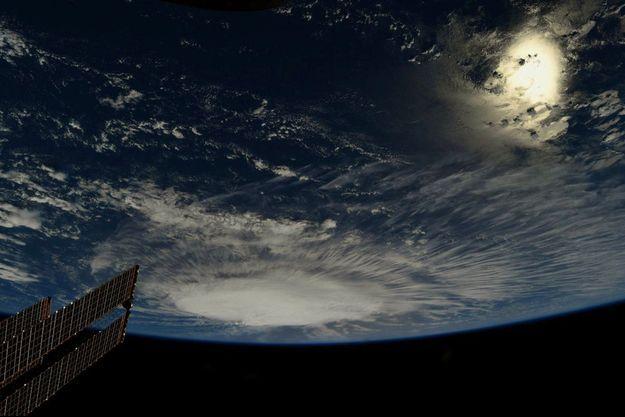 L'ouragan Florence vu du ciel.