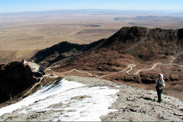 Un glacier en Bolivie.