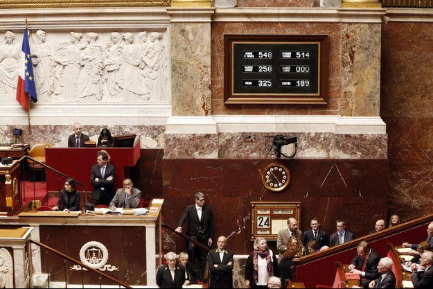 Résultats du vote du projet de loi pour la biodiversité en première lecture à l'Assemblée nationale, le 24 mars... 2015.