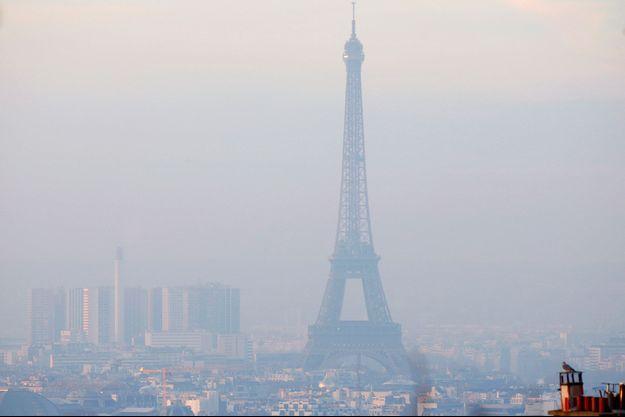 Paris lors d'un pic de pollution.