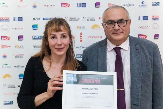 Julie Depardieu, présidente du jury édition 2017, avec Frédéric Plas, de l'Andra.