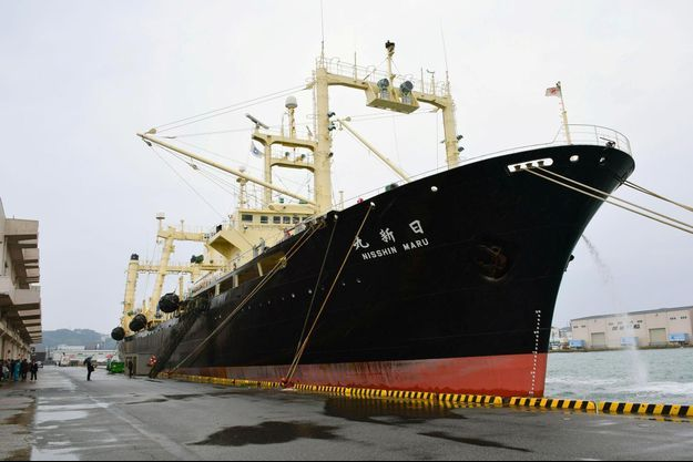 Le baleinier japonais Nisshin Maru.