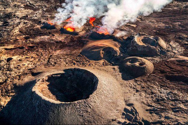 Le volcan du piton de la Fournaise en mai dernier.