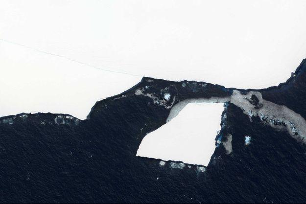L'iceberg A68a fait environ 4200 kilomètres carrés.