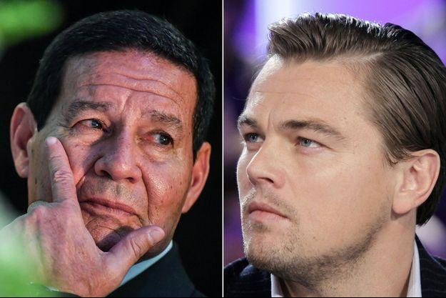 Hamilton Mourao et Leonardo DiCaprio.