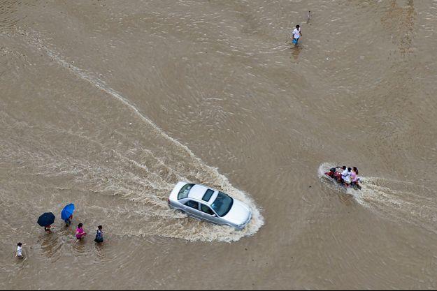 Des inondations en Chine.