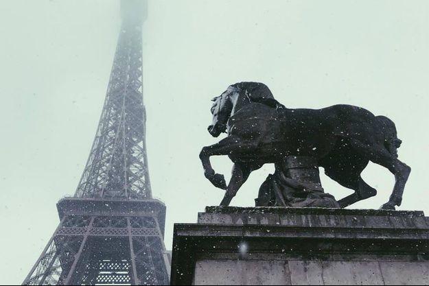 Les chutes de neige à Paris.