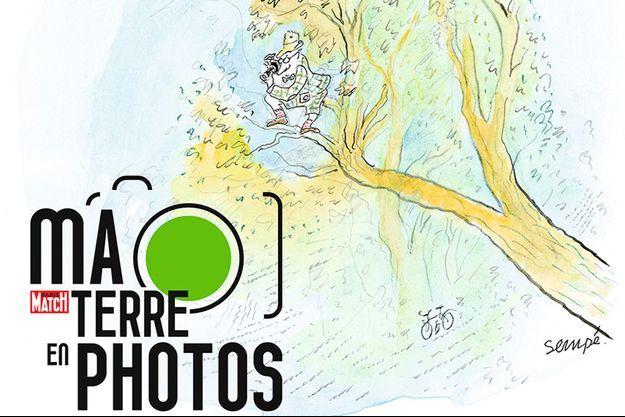 """La couverture du livre """"Ma Terre en photos"""""""