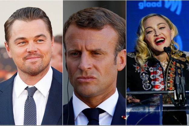 Leonardo DiCaprio, Emmanuel Macron et Madonna.