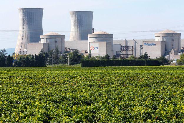Site nucléaire du Tricastin (Rhône).