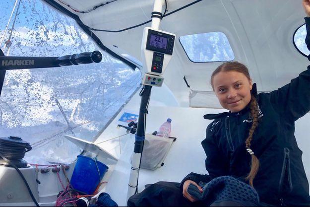 Greta Thunberg traverse l'Atlantique à bord d'un voilier skippé par Pierre Casiraghi, fils de la princesse Caroline de Monaco.
