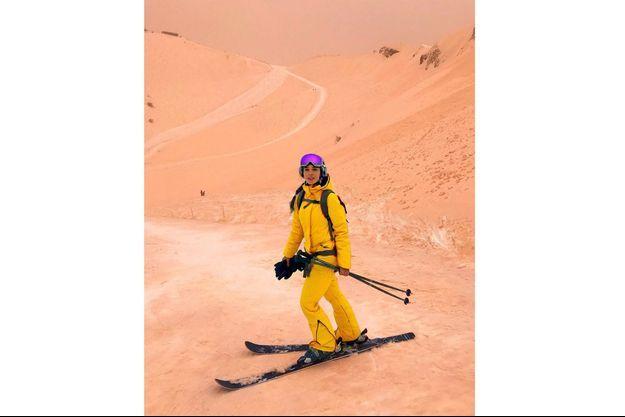 Une skieuse à Sotchi, en Russie.