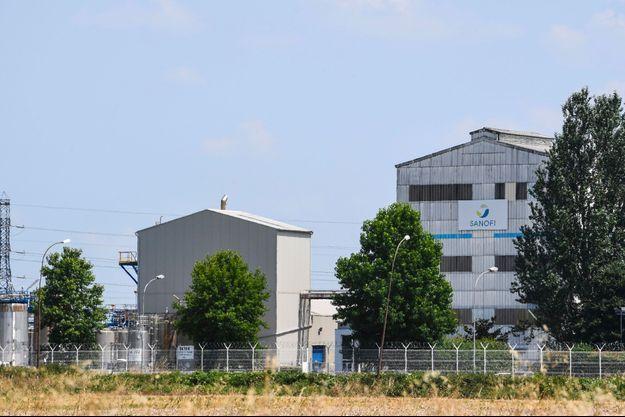 L'usine Sanofi de Mourenx dans les Pyrénées-Atlantiques, en juillet.