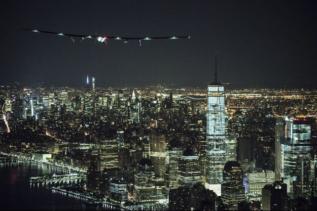 Solar Impulse 2 atteint New York le 11 juin 2016.