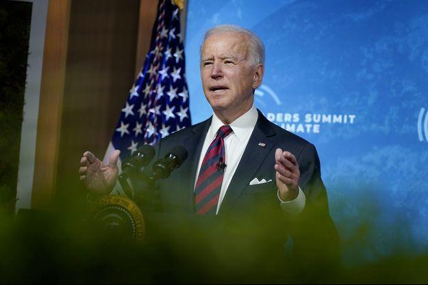 Joe Biden lors du sommet virtuel sur le climat, le 22 avril.
